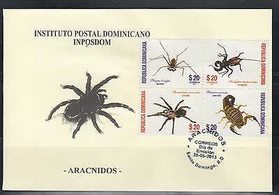 Dominican Republic 2013  Spiders Sc 1534  First Day Cover