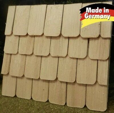 190 Piece Roof shingle, hand beaten, natural colours 4x2,3x0,3cm - Nativities
