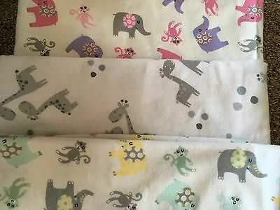 Receiving Blankets Soft 100% Cotton Flannel New Handmade