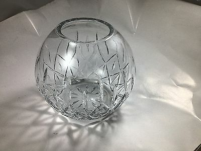 Large Round Cut Glass Bowl ~ 7 Inches Across