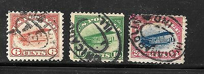 U.S.#C1-3 The First Air Mails Complete Set Space Fillers Used C.V. $100.00