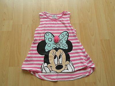 Girls 3-4 Years Striped Minnie Mouse Top