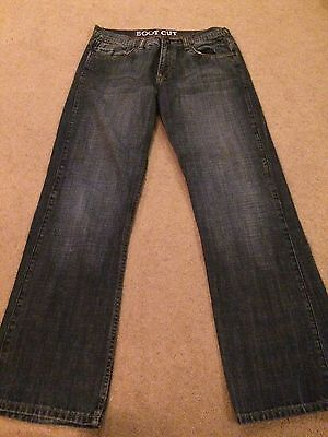 Mens Blue Bootcut Jeans Size 32R From Voyager Denim