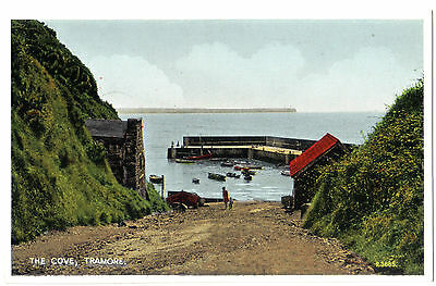 Tramore NEWTOWN COVE BEACH EIRE Ireland COUNTY Co. Waterford OLD POSTCARD