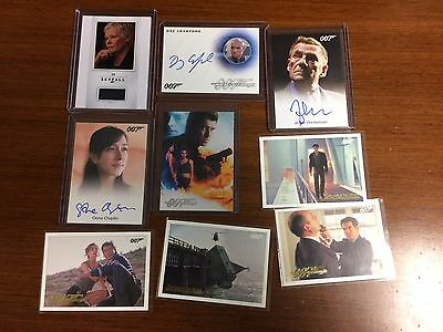 2016 James Bond Classics 007 Relic Auto Autograph Parallel Lot Collection x9 SP