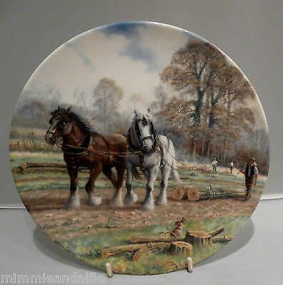 ROYAL DOULTON COLLECTORS PLATE - LOGS TO THE MILL - Ltd EDITION