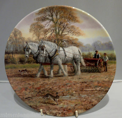 ROYAL DOULTON COLLECTORS PLATE - THEIR DRILLTO THE FURROW - Ltd EDITION