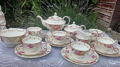 22 x Samuel Radfords ,Fenton Reg no.685357 Pink floral tea set