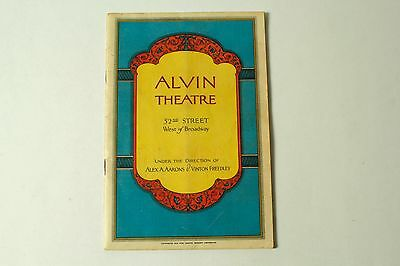 """""""SPRING IS HERE"""" ~ ALVIN THEATRE PROGRAM (1929) 56 pages"""