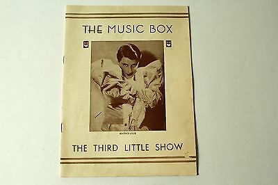 """""""THE THIRD LITTLE SHOW"""" ~ THE MUSIC BOX (1931) 24 pages"""