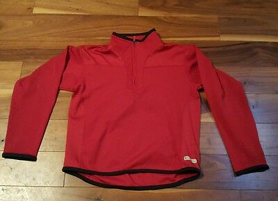 Columbia Youth Red 1/4 Zip  Pullover Long Sleeve Outdoor  Jacket Size Small F