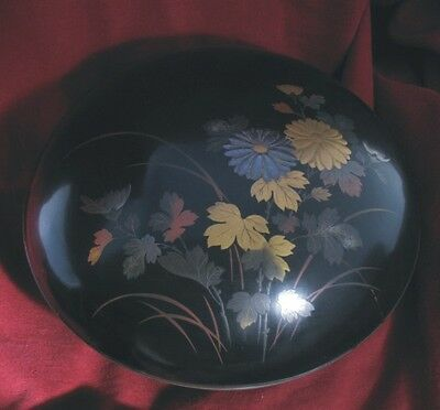 Meiji Period (1868 – 1915) Japanese Lacquer Box with Mixed Metallic Pattern