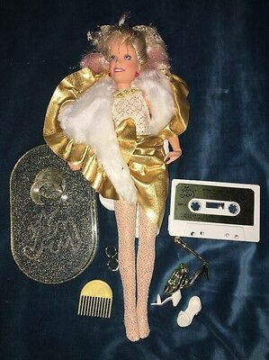 Jem and the Holograms GLITTER N GOLD doll & Accessories vintage Hasbro