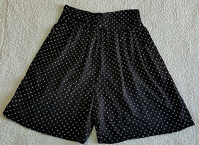 Gitano High Waisted Black White Polka Dot Vintage 90s Shorts M
