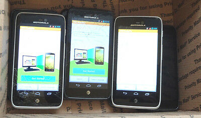 Lot of 7 Motorola Atrix HD MB886 AT&T Smartphones Power On Good LCD AS-IS GSM