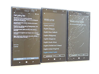 Lot of 3 Nokia Lumia 1520 RM-940 AT&T Smartphones Good LCD AS-IS GSM