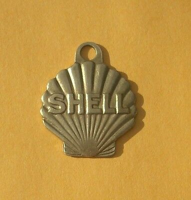 Shell Gasoline & Oil Company Key Chain Fob Finder Tag Seashell Design St. Louis