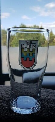 1988 Dublin celebrating a thousand years pint glass barware vintage rare Superb