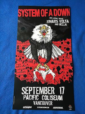 """System Of A Down Concert Tour Poster """"rare"""""""