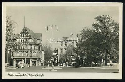 Real photo postcard - CELLE - Albrecht-Thaer- Strasse - Lower Saxony - Germany.