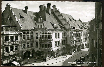 MUNCHEN - Hofbrauhaus am Platzi - GERMANY - real photo postcard.