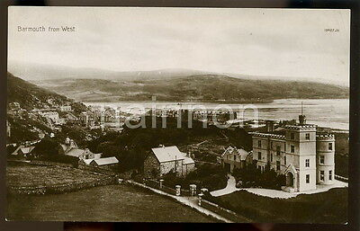 BARMOUTH from the West - Meirioneth - real photo postcard.
