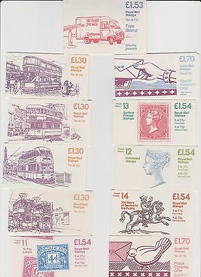 Stamps Great Britain 29 Folded Stamp Booklets circa 1980s