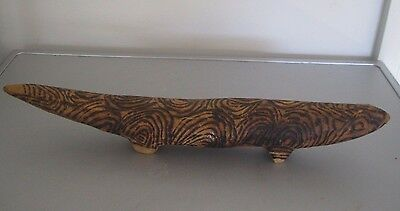 Hand Carved Poker -Work Goanna/lizard.