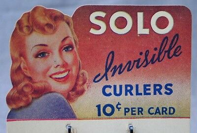Vintage New Old Stock - Solo Invisible Curlers - Mint on Card - Never Been Used