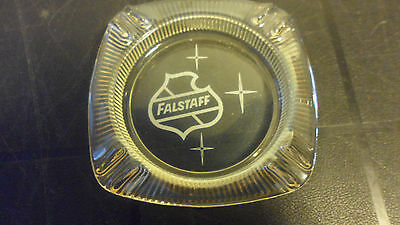 """VINTAGE FALSTAFF BEER GLASS ASH TRAY with LOGO   5"""""""