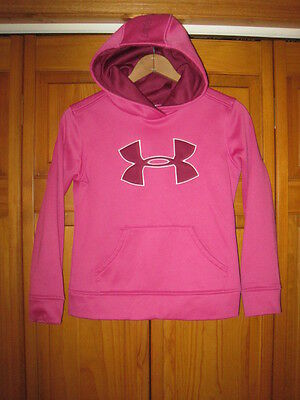 Under Armour Cold Gear hoodie sweatshirt girls YMD pink running exercise soccer