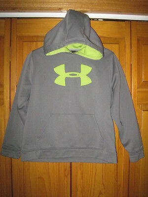 Under Armour Storm Cold Gear hoodie sweatshirt kids boys YLG L gray