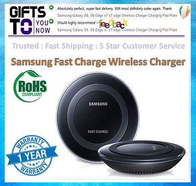 Samsung Galaxy S8 S8 plus S7 Edge S6 FAST CHARGE Qi Wireless Charger Pad