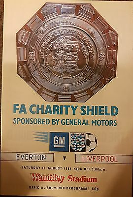 Everton v Liverpool F.A. Charity Shield Programme 1984