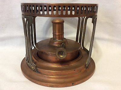 Antique Landers, Frary & Clark Copper And Brass Burner - Circa -1906