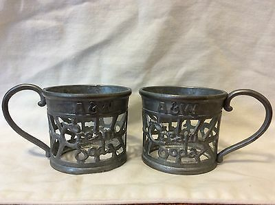 Vintage A&w Cream Soda Tin Cup Holders