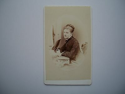 Antique Photo CDV by Ellisson and Co. Quebec Canada 1878 Woman