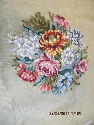 Hiawatha Heirloom Needlepoint Crewel Pre-worked Floral Pillow chair Cover
