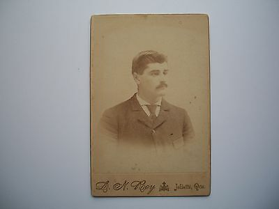 Antique Cabinet Photo by L.H. Roy Joliette Quebec Canada c-1880 Man