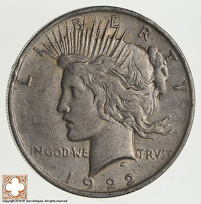 Over 90 Years Old! 1922 Peace Silver Dollar - 90% Silver *575