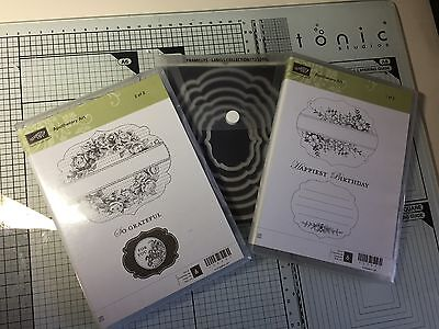 Stampin up Apothecary Art Stamp Sets + Labels Collection Framelits Dies