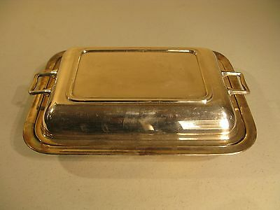 Vintage silver plate covered vegetable dish