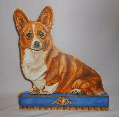Corgi on Bed Color Print Prop Collectible Stand Up Board Dog Lovers Decor Figure