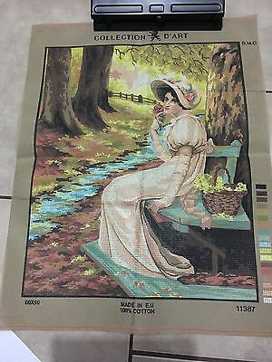 Needlepoint Canvas. Victorian Lady. Collection D'Art. Large beautiful canvas