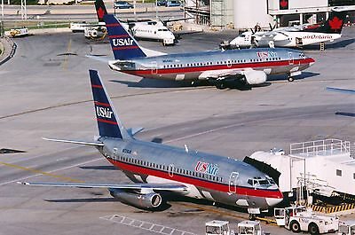 """8"""" x 12"""" US AIR BOEING 737's TAKEN AT TORONTO'S PEARSON AIRPORT"""