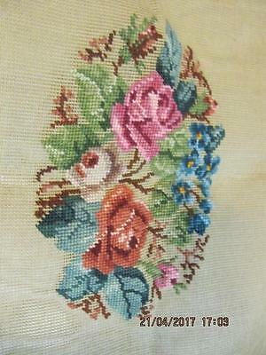 PARAGON Needlepoint Crewel Canvas Embroidery Floral Pillow Chair preworked
