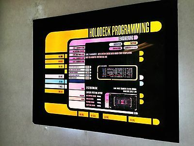 StAr TrEk prop TNG Hollo Deck LCARS computer prop transparent print