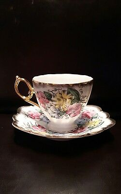 SHAFFORD TEA CUP AND SAUCER set JAPAN beautiful condition