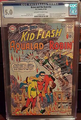 Brave and the Bold #54 CGC 5.0 First appearance of the Teen Titans