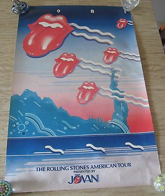 ROLLING STONES AMERICAN TOUR Promo Poster 1981 Jovan 36x22